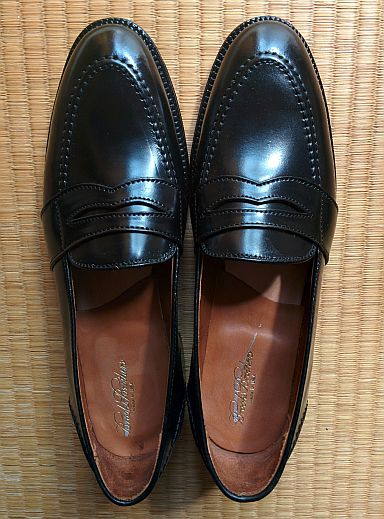 Alden x Brooks Brothers Cordovan Full Strap Slip-On 00044